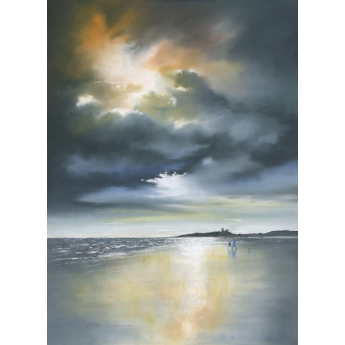 Breaking Dawn at Dunstanburgh small framed print - Roy Francis Kirton Image