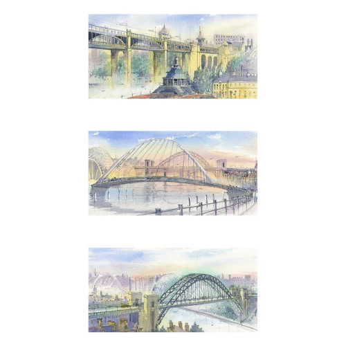 Bridges of Tyneside Triptych - Roy Francis Kirton Image