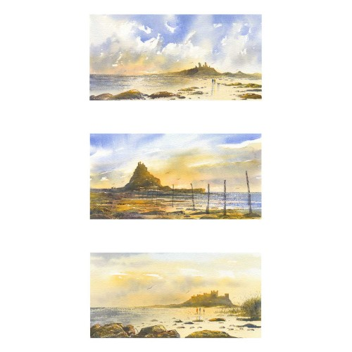 Castles of Northumberland Triptych - Roy Francis Kirton Image
