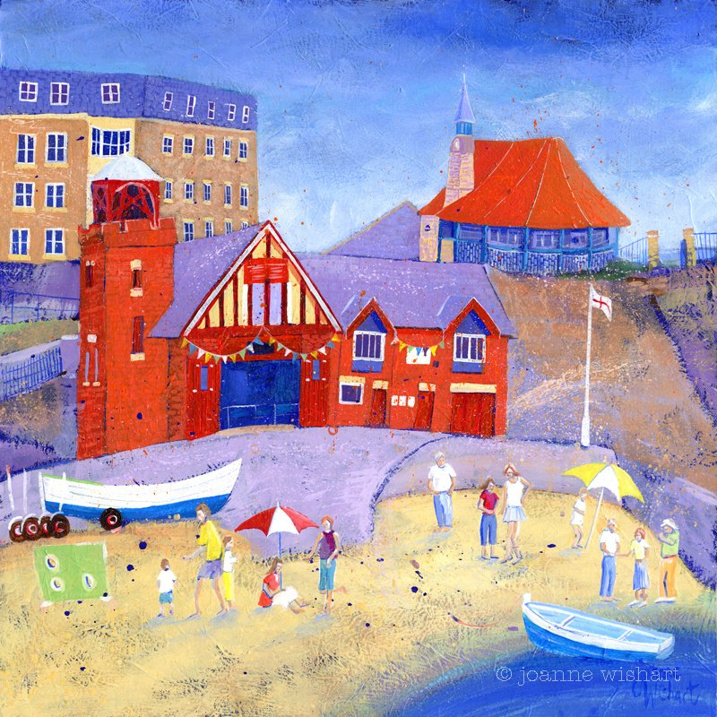 Cullercoats Harbour Day - Joanne Wishart Image