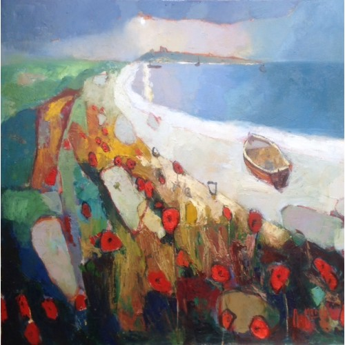 Dunstanburgh, Shoreline Poppies - Anthony Marshall.jp Image