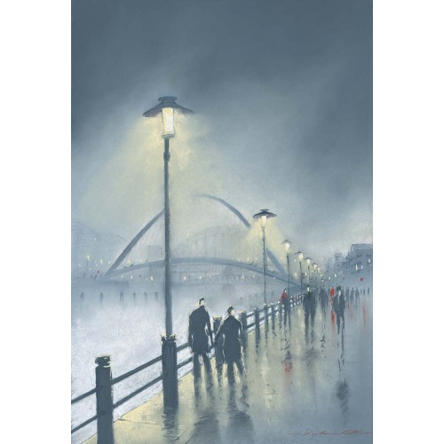 Misty Night Millennium Bridge. Small framed print - Roy Francis Kirton Image