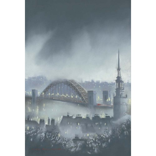 Misty night over the Tyne - Roy Francis Kirton Image