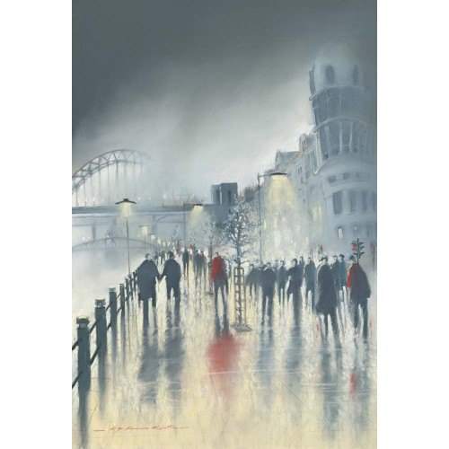 Quayside Evening. Small framed print - Roy Francis Kirton Image