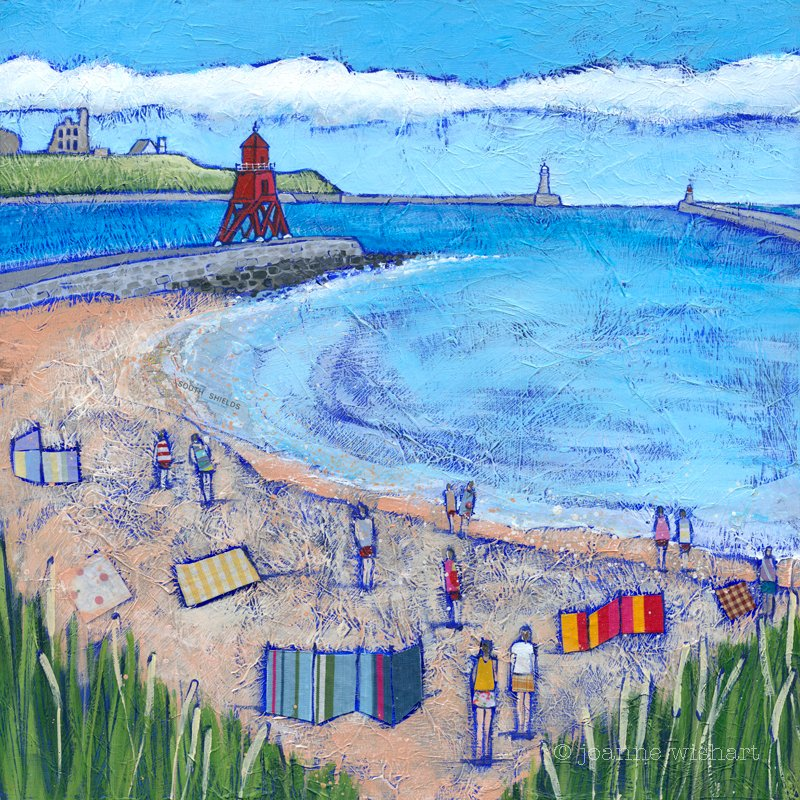 South Shields Beach Goers - Joanne Wishart Image