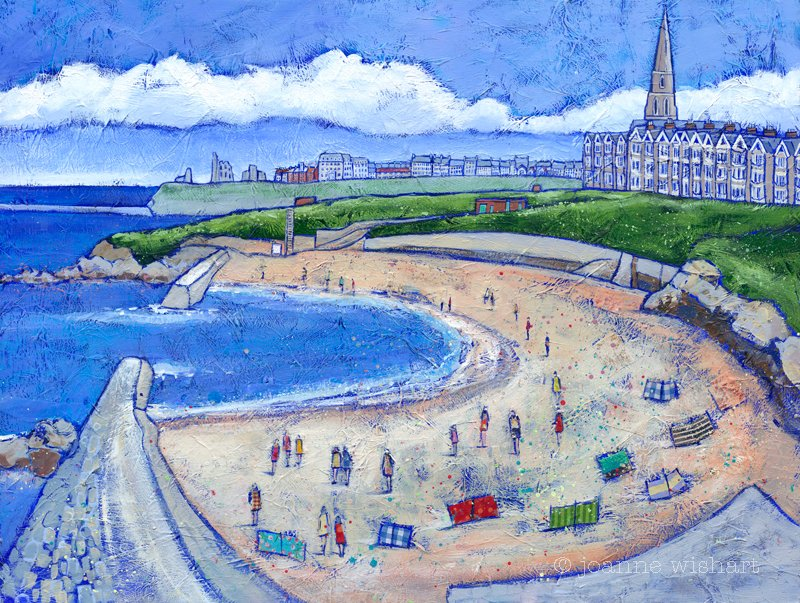 Summer at Cullercoats - Joanne Wishart Image