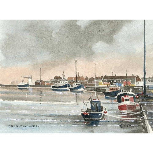 The Red Boat - Amble - Bob Turnbull Image