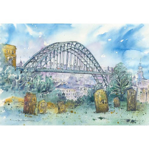 Tyne Bridge from a churchyard - Roy Francis Kirton Image