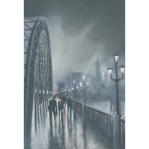 Tyne Evening small framed print - Roy Francis Kirton Image