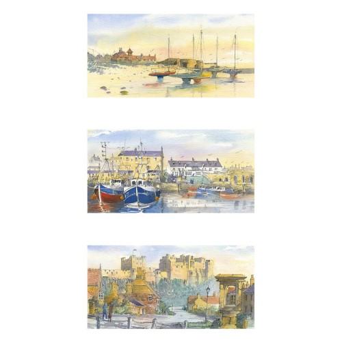 Villages of Northumberland Triptych - Roy Francis Kirton Image