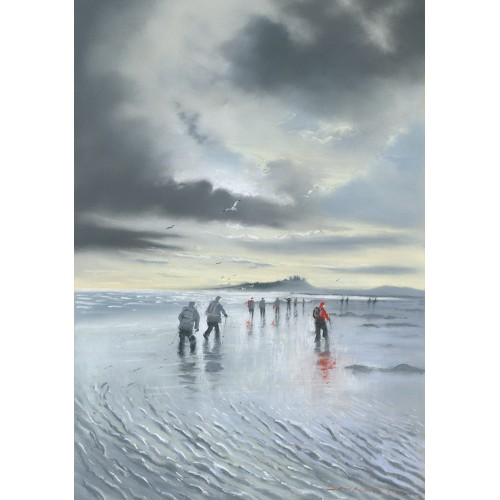 Winter Walkers at Newton Bay - Roy Francis Kirton Image